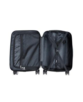 Du mėlynos spalvos lagaminai L + M